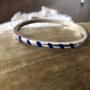 Sterling Silver and Lapis Inlay Bracelet